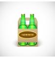 Packaging of beer vector image