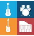 music sound instrument vector image