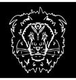 Hand-drawn pencil graphics lion Stencil style vector image