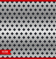 metal background with rhombus shape patterns vector image