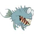 Deep water fish Balloonfish Cartoon vector image