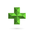 Medical logo icon design template with cross and vector image