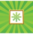 Winter picture icon vector image