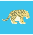 Flat hand drawn icon of a cute jaguar vector image