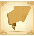Vintage origami arrow Background vector image