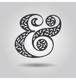 Abstract textured ampersand icon on gray gradient vector image