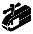 clamping machine icon simple black style vector image