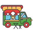fast food truck street food mobile kitchen vector image