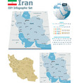 Iran maps with markers vector image