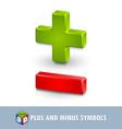 Plus and minus symbols vector image