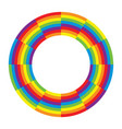 rainbow round wheel circle vector image