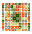 Set of 100 Universal Icons Simple Flat Style Busin vector image