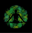 Silhouette of a meditating person vector image