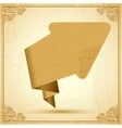 Vintage origami arrow Background vector image