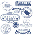 Mercer county New Jersey stamps and seals vector image