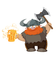 viking and beer vector image vector image