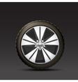 Car Wheel Black Background vector image