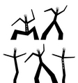 dancing black man vector image vector image