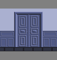 The door vector image