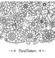 Doodle pattern with doodles flowers and paisley vector image