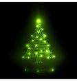 digital christmas tree vector image