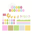 Happy Easter icons vector image