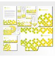 stationery set with abstract pattern vector image