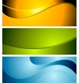 Abstract corporate wavy bright banners vector image