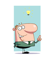 Businessman In A Green Suit vector image