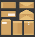 envelope icons set flat design vector image