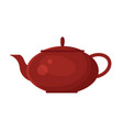 flat teapot icon logo isolated on white vector image