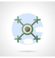 Quadrotor flat color icon vector image