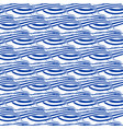 seamless pattern with hand drawn waves vector image