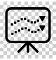 trends presentation icon vector image
