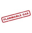 Flammable Gas Rubber Stamp vector image