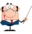 Business Manager Gesturing With A Pointer Stick vector image
