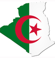 Map of Algeria with national flag vector image vector image
