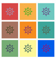 collection of icons and marine vector image