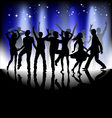 Several people are dancing silhouette vector image vector image