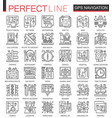 navigation outline mini concept symbols gps vector image