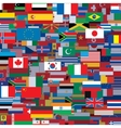 Background Made from World Flags Template vector image vector image