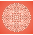 Round mandala lace ornamental background vector image