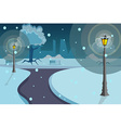 Street lights background vector image