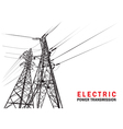 Electric power transmission silhouette vector image vector image