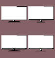 LCD television icons vector image