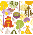 animals and forest paper art vector image vector image