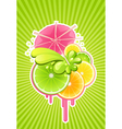Cocktail background vector image vector image