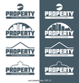 Abstract property logo with buildings and construc vector image