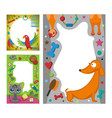 cute happy birthday border photo frame vector image