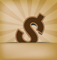 dollar on old background vector image